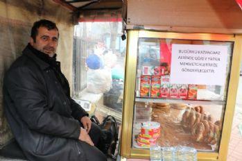 Bir günlük kazancını Afrin'e bağışladı
