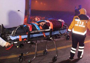 Konya'da yolcu otobüsü refüje devrildi: 11 yaralı var