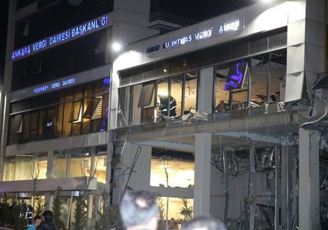 Ankara'daki vergi dairesi patlamasına ilişkin görüntüler ortaya çıktı