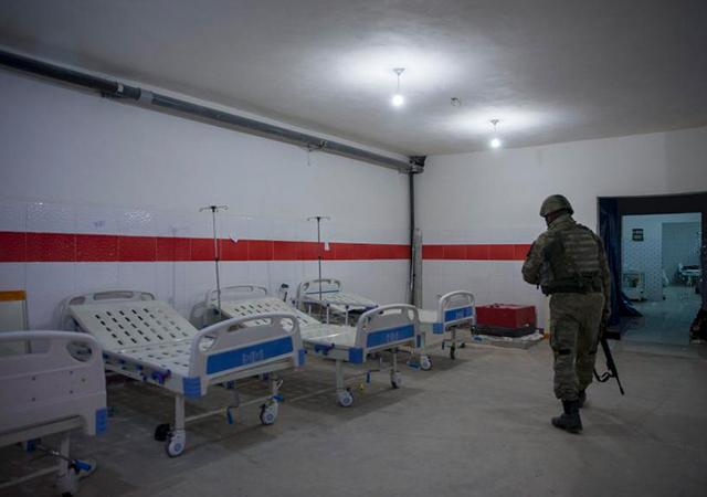 Afrin'de terör örgütünün yeraltı hastanesi bulundu