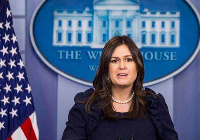 Beyaz Saray Sözcüsü Sanders: Başkan Amerikan güçlerinin eve dönmelerini istediği konusunda net