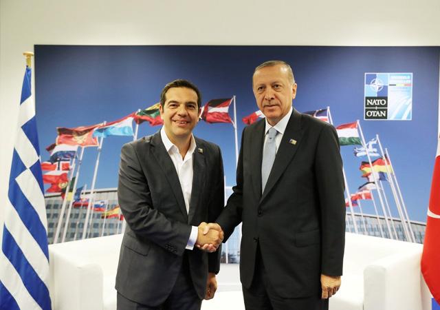 NATO zirvesinde Erdoğan-Çipras görüşmesi