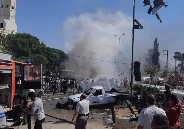 Azezde bomba yüklü araçla saldırı: Ölü ve yaralılar var
