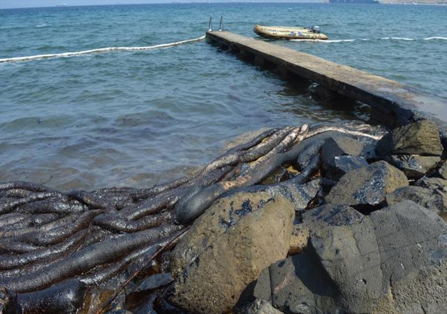 Foça'yı kirleten gemiye tarihi ceza!