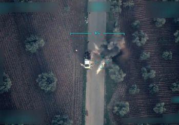Afrin'de teröristlerin sivilleri katlettiği tuzaklama anları görüntülendi