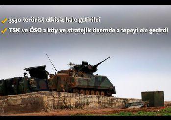Afrin'de 2 köy ve stratejik önemdeki 2 tepe temizlendi
