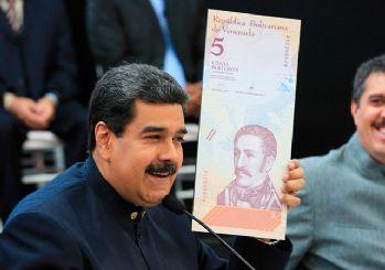 Venezuela paradan 3 sıfır atıyor