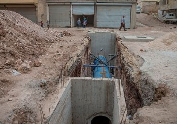 Afrin'de teröristlerin beton fabrikası bulundu