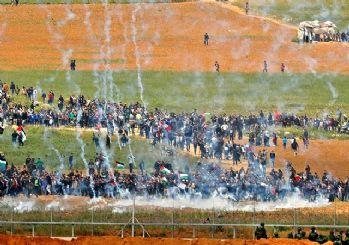 İsrail Filistinlilere saldırdı: 7 şehit 500 yaralı