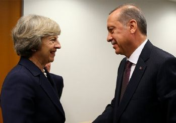Cumhurbaşkanı Erdoğan, May ile Suriye'yi görüştü