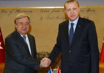 Erdoğan, BM Genel Sekreteri ile telefon görüşmesi yaptı