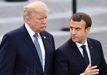Trump, Macron'a İran nükleer anlaşmasından çekileceğini söyledi