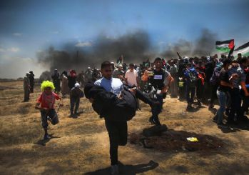 Kudüs'te kanlı açılış... İsrail askerleri Gazze'de katliam yaptı