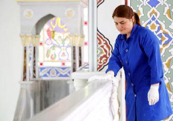 Kağıthane'de camilerde ramazan temizliği tamamlandı