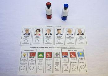 24 Haziran'da kullanılacak oy pusulaları tanıtıldı