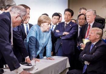 Dünya bu kareyi konuşuyor! G-7 zirvesinde gerginlik