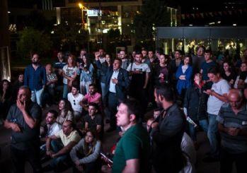 CHP Genel Merkezi önünde protesto sesleri