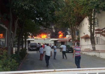 Veliefendi'de yangın