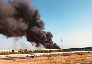 Antalya'da fabrika yangını!