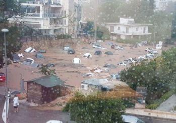Komşuda bir felaket daha! Yunanistan'ı yangından sonra sel vurdu
