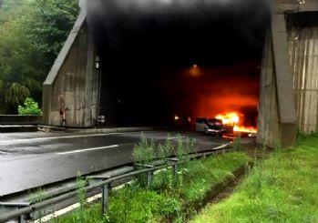 Ordu'da felaket üstüne felaket! Sel kenti vurdu, tünelde araç yandı