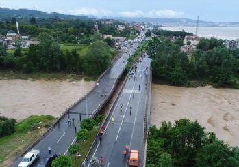 Ordu'da yoğun yağış sonrası 8 köprü yıkıldı!