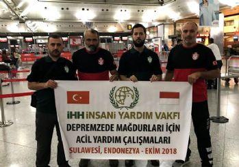 İHH Acil yardım ekibi Endonezya yolunda