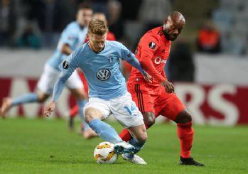 Beşiktaş, Malmö deplasmanından mağlubiyetle ayrıldı