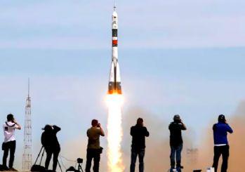 Soyuz roketinin kalkışında kaza!