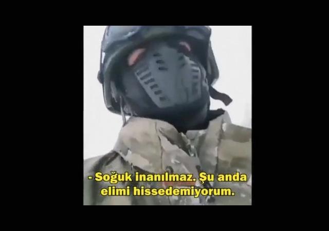 Operasyona giden Mehmetçik böyle helallik istedi