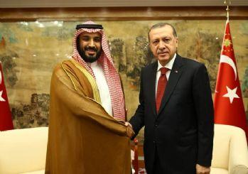 Cumhurbaşkanı Erdoğan, Veliaht Prens Selman'la görüştü