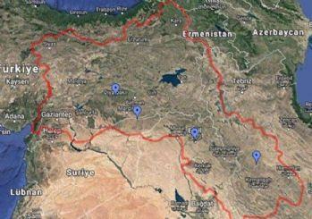 Google, Türkiye'nin güneydoğusunu Kürdistan haritası içinde gösterdi!