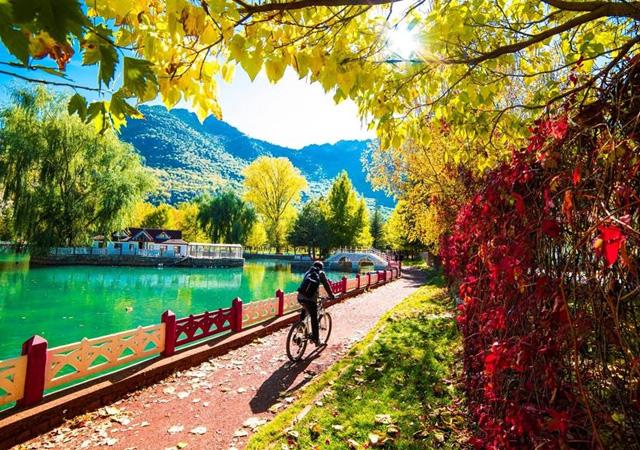 Konya'da muhteşem sonbahar görüntüleri