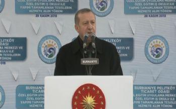 Erdoğan: 'Bayrağımız dışında bir bayrak...'