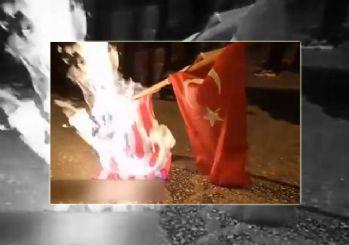 Rusya yanlısı Rumlar Türk bayrağını yaktı!