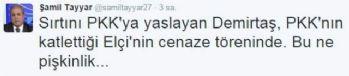 Tayyar'dan Demirtaş'a: 'Bu ne pişkinlik'