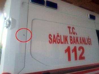 Hasta taşıyan ambulansa silahlı saldırı