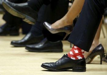 Kanada Başbakanı'nın dikkat çeken çorapları!