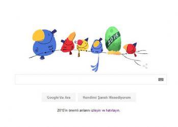 Google Yılbaşı 2016'yı Doodle yaptı