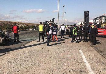 Atatürk Havalimanı'nda servis araçları çarpıştı: 9 yaralı