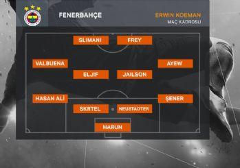 Kadıköy'de 11'ler belli oldu! Fenerbahçe Anderlecht karşısında...