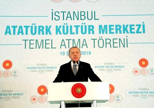 Erdoğan Yeni AKM'nin temelini attı! 850 milyon lira...