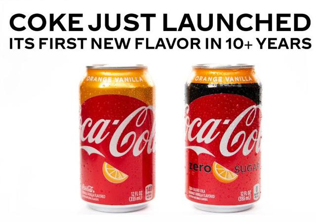 İşte Coca-Cola'nın yeni ürünü! Portakal ve vanilyalı...