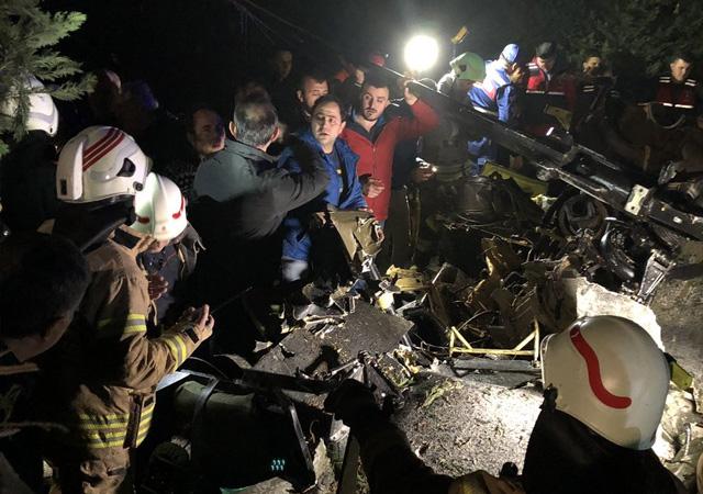 İstanbul'daki helikopter kazasına yayın yasağı geldi