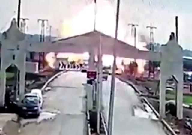 Kilis sınırında patlama! İşte patlama anı...