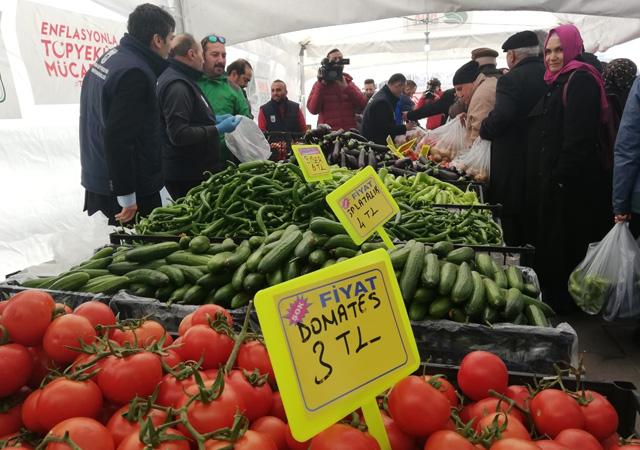 10 günde 2 bin ton sebze satıldı! İBB açıkladı
