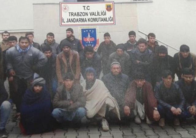 41 düzensiz göçmen! Trabzon'da yakalandı