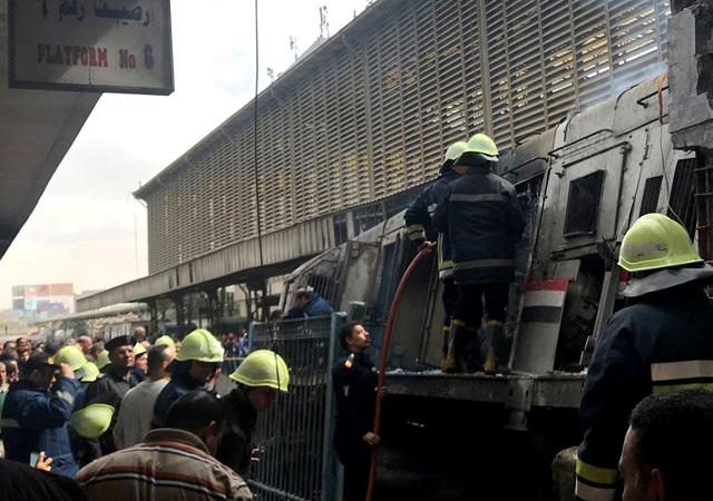 Mısır'da tren istasyonunda yangın! 24 kişi öldü, 50 kişi yaralandı
