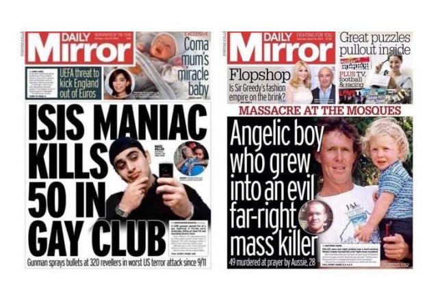 İki yüzlü batı medyası! Katliamcı teröristi 'melek çocuk' yaptılar