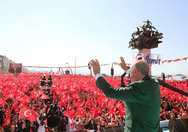 Erdoğan İzmir mitinginde konuştu: Onlardan buraya fayda gelmez!